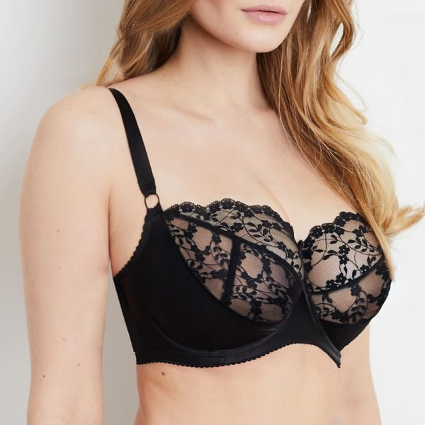 Sophia Black Lace Bra Side