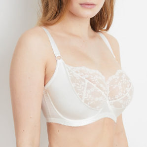 Sophia Ivory lace bra side view