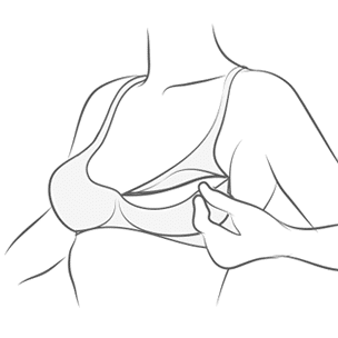 Nursing Bra Illustration