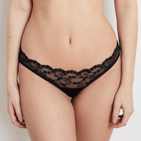 Sophia Black Lace Thong