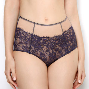 Abbie Purple Lace High Waisted Knickers Front View