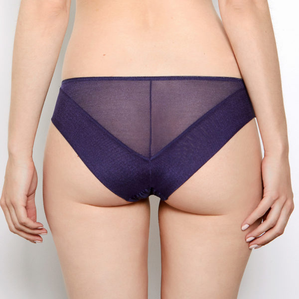 Abbie Purple Lace Knickers Back View