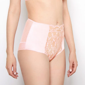 Sophia Blush Lace High Waisted Knickers