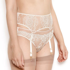 Abrielle Chalk Cream Suspender Belt
