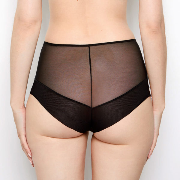 Abblie Black Seamless High Waist Knickers Back
