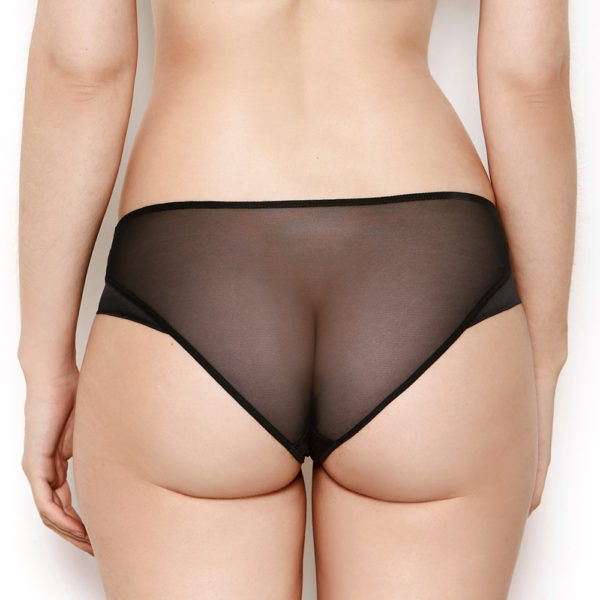 Nina Sheer Black Knickers - Back