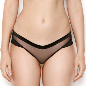 Nina Sheer Black Knickers - Front