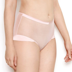 Nina Sheer Pink High Waisted Knickers