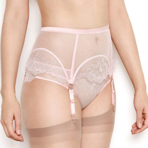 Priya Rose Floral Suspender Belt