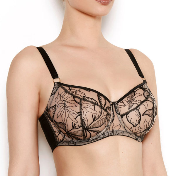 Vivian Black Embroidered Bra