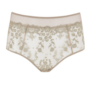 Abrielle Gold Embroiderd High Waisted Knickers