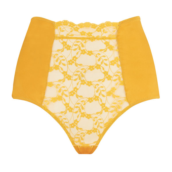 Sophia Lace High Waisted Knickers - Orange/Ginger