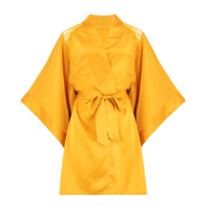 Sophia Silk Robe - Orange/Ginger