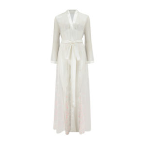 Eden Ivory Embroidered Robe