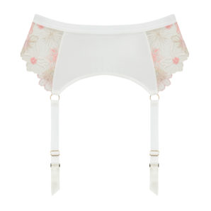 Eden Ivory Embroidered Suspender Belt